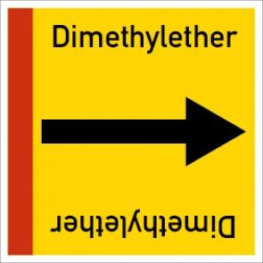 Rohrleitungskennzeichnung viereckig Dimethylether · Aluminium-Schild