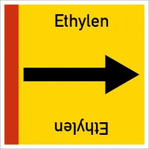 Rohrleitungskennzeichnung viereckig Ethylen · Aluminium-Schild