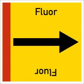 Rohrleitungskennzeichnung viereckig Fluor · Aluminium-Schild