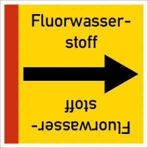 Rohrleitungskennzeichnung viereckig Fluorwasserstoff · Aluminium-Schild