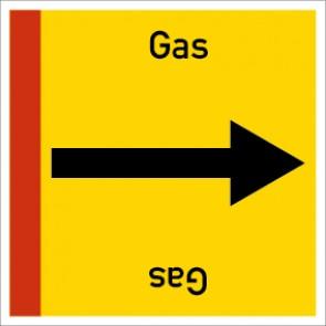 Rohrleitungskennzeichnung viereckig Gas · Aluminium-Schild