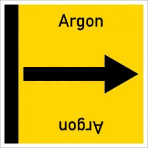 Rohrleitungskennzeichnung viereckig Argon · Aufkleber