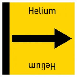 Rohrleitungskennzeichnung viereckig Helium · Aufkleber