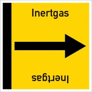 Rohrleitungskennzeichnung viereckig Inertgas · Aufkleber