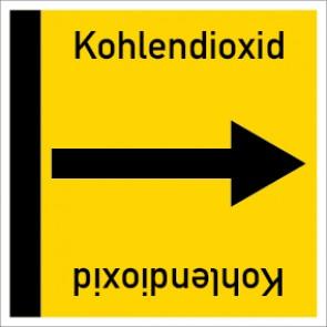 Rohrleitungskennzeichnung viereckig Kohlendioxid · Aufkleber