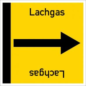Rohrleitungskennzeichnung viereckig Lachgas · Aufkleber