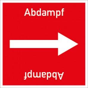 Rohrleitungskennzeichnung viereckig Abdampf · Aluminium-Schild