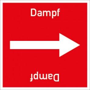 Rohrleitungskennzeichnung viereckig Dampf · Aluminium-Schild