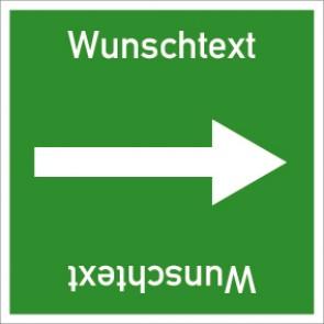 Rohrleitungskennzeichnung viereckig Wunschtext · Aufkleber
