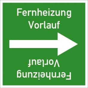 Rohrleitungskennzeichnung viereckig Fernheizung Vorlauf · Aluminium-Schild