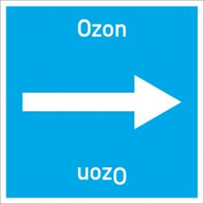 Rohrleitungskennzeichnung viereckig Ozon · Aufkleber