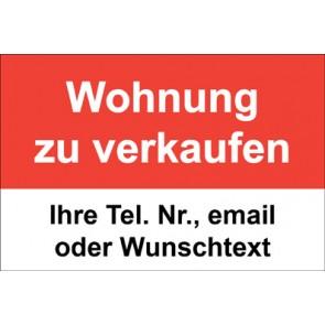 """Magnetschild """"Wohnung zu verkaufen""""  (Magnetfolie)"""