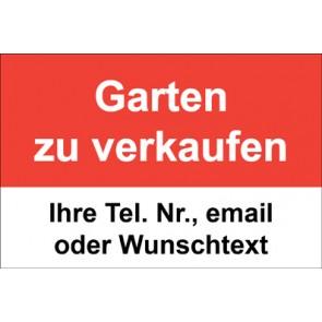 """Magnetschild """"Garten zu verkaufen""""  (Magnetfolie)"""