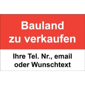 """Magnetschild """"Bauland zu verkaufen""""  (Magnetfolie)"""