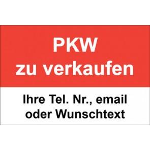 """Magnetschild """"PKW zu verkaufen""""  (Magnetfolie)"""