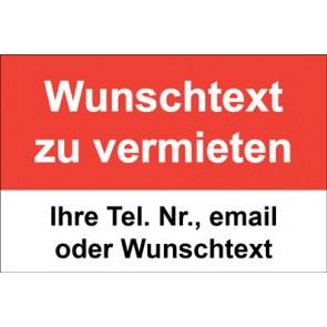 """Magnetschild """"Wunschtext zu vermieten""""  (Magnetfolie)"""