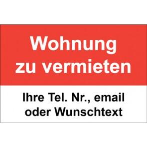 """Magnetschild """"Wohnung zu vermieten""""  (Magnetfolie)"""