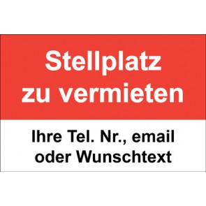 """Magnetschild """"Stellplatz zu vermieten""""  (Magnetfolie)"""