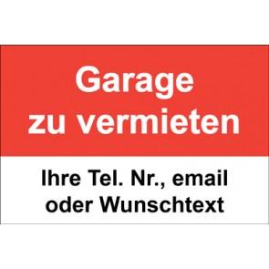 """Magnetschild """"Garage zu vermieten""""  (Magnetfolie)"""