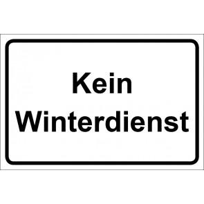 Schild Kein Winterdienst | weiß