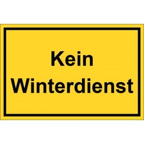 Aufkleber Kein Winterdienst | gelb