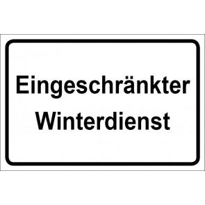 Schild Eingeschränkter Winterdienst | weiß