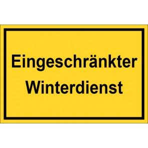 Aufkleber Eingeschränkter Winterdienst | gelb