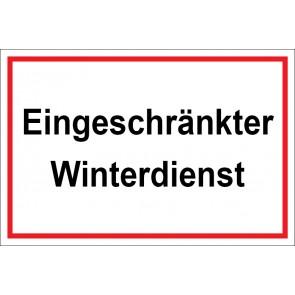 Aufkleber Eingeschränkter Winterdienst | weiß · rot