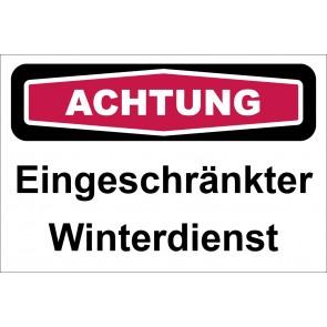 Aufkleber Eingeschränkter Winterdienst | ACHTUNG