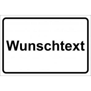Schild Winterdienst Wunschtext | weiß