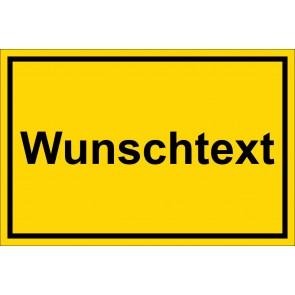 Schild Winterdienst Wunschtext | gelb