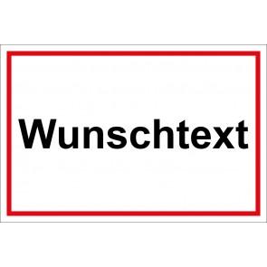 Schild Winterdienst Wunschtext | weiß · rot