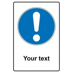 Gebotszeichen mit Text Your text · Magnetschild - Magnetfolie