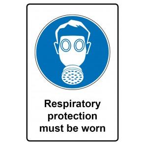 Gebotszeichen Aufkleber   Sticker · Respiratory protection must be worn