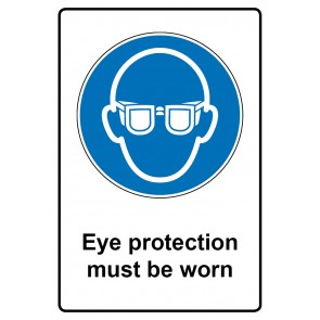 Gebotszeichen Aufkleber | Sticker · Eye protection must be worn