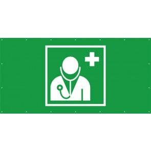 Rettungszeichen Banner · Plane Arzt, Ärztliche Hilfe