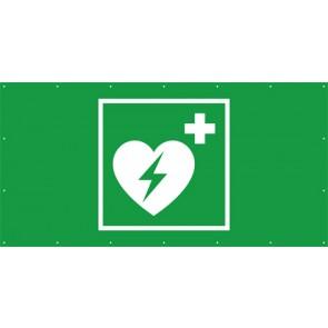 Rettungszeichen Banner · Plane Defibrillator