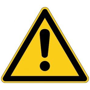 Fußbodenaufkleber Warnzeichen Allgemeines Warnzeichen
