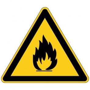 Aufkleber Warnung vor feuergefährlichen Stoffen | stark haftend