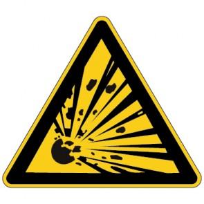 Fußbodenaufkleber Warnzeichen Warnung vor explosionsgefährlichen Stoffen