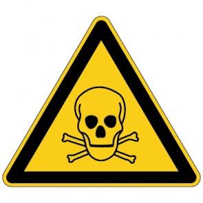 Fußbodenaufkleber Warnzeichen Warnung vor giftigen Stoffen