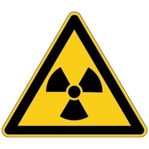 Aufkleber Warnung vor radioaktiven Stoffen | stark haftend