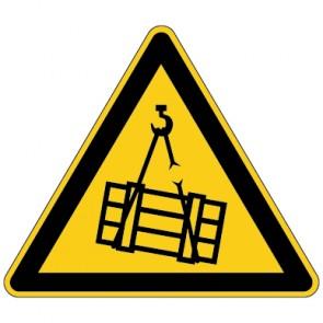Fußbodenaufkleber Warnzeichen Warnung vor schwebender Last