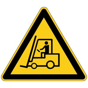 Fußbodenaufkleber Warnzeichen Warnung vor Flurförderzeugen