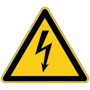 Fußbodenaufkleber Warnzeichen Warnung vor elektrischer Spannung