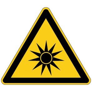 Fußbodenaufkleber Warnzeichen Warnung vor optischer Strahlung