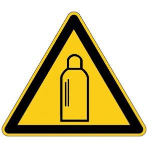 Aufkleber Warnung vor Gasflaschen | stark haftend