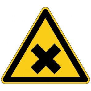 Fußbodenaufkleber Warnzeichen Warnung vor gesundheitsschädlichen oder reizenden Stoffen
