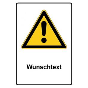 Warnzeichen mit Text Allgemeines Warnzeichen · Wunschtext · MAGNETSCHILD