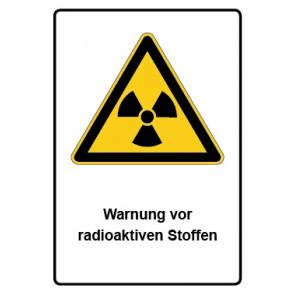 Kombi Schild Warnung vor radioaktiven Stoffen